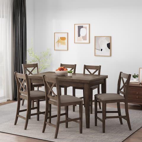 Dillonvale Indoor Wood Counter Height 7 Piece Dining Set by Christopher Knight Home