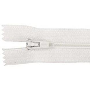 """White - Plastic Robe Zipper 36"""""""