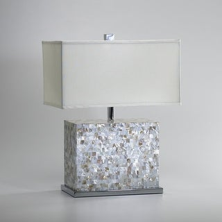"""Cyan Design 2597 25"""" from the Lighting Collection - white and polished chrome"""