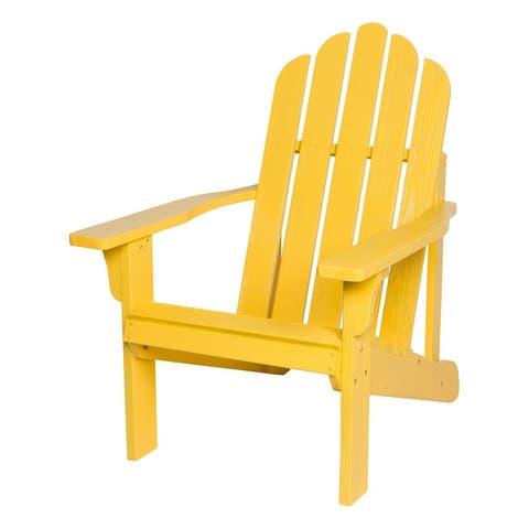 Shine Company Marina II Adirondack Chair, Cedar Wood, HYDRO-TEX Finish