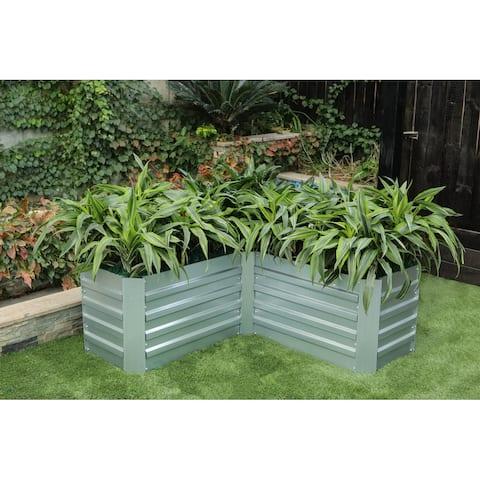 L-Shaped Galvanized Raised Garden Bed