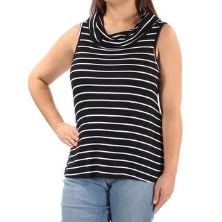 ULTRA FLIRT $13 Womens New 2337 Black Striped Sleeveless Top XL Juniors B+B