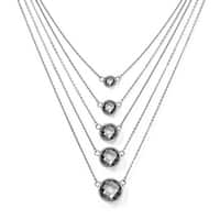 Chisel Stainless Steel Glass with 2in ext. Polished Necklace (1 mm) - 18 in