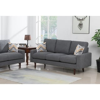 Link to Carson Carrington Ludviki Dark Grey Woven Fabric Sofa Couch Similar Items in Living Room Furniture