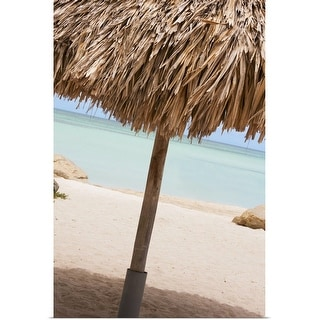 """Aruba, palapa on beach"" Poster Print"