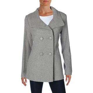 Jessica Simpson Womens Coat Wool Blend Double Breasted