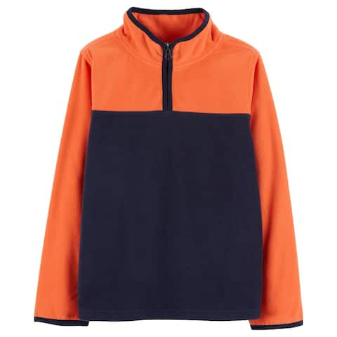 OshKosh Baby Boys' Fleece Cozie, Orange/Navy, 12-18 Months
