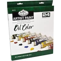 Oil Paints 21Ml 24/Pkg-Assorted Colors