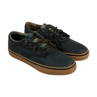 The Hundreds Johnson Low Mens Black Leather Lace UpSneakers Shoes