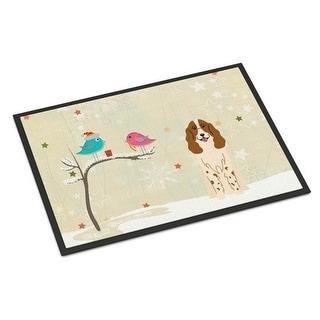 Carolines Treasures BB2503JMAT Christmas Presents Between Friends Russian Spaniel Indoor or Outdoor Mat 24 x 0.25 x 36 in.