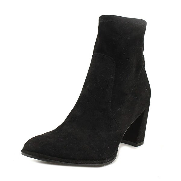 Marc Fisher Lizzy Women Round Toe Canvas Black Bootie