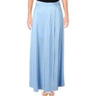 Xscape Womens Petites Maxi Skirt Wrap Shimmer - 4P