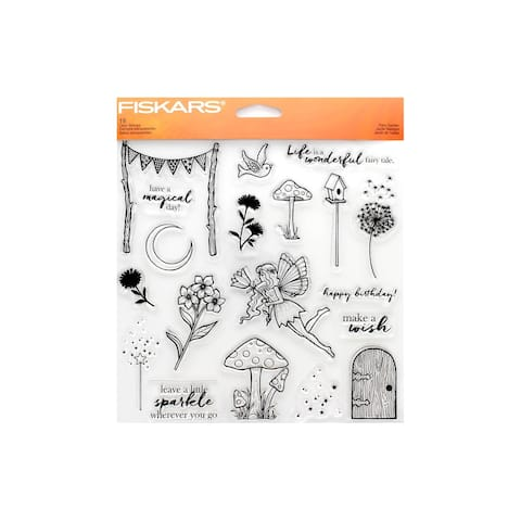 Fiskars Clear Stamp Fairy Garden