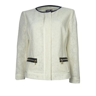 Anne Klein Women's Crochet Skyline Jacket