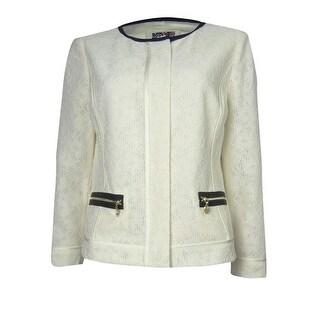 Anne Klein Women's Crochet Skyline Jacket - Ivory (2 options available)
