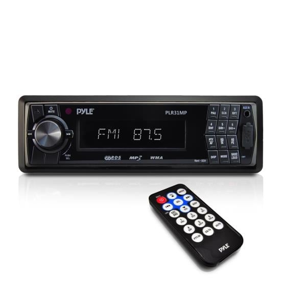 AM/FM-MPX In-Dash Detachable Face Radio w/SD/MMC/USB Player