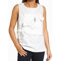 Halogen Keyhole Medium Tank Cami Bow Scoop-Neck Top Blouse $59