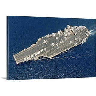 """Aircraft carrier USS George Washington and Carrier Air Wing Seven"" Canvas Wall Art"