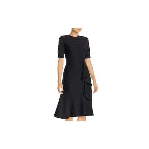 Shoshanna Black Short Sleeve Knee Length Dress 2
