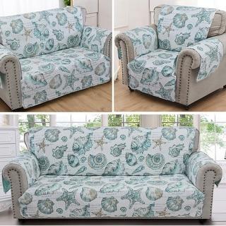 Link to Barefoot Bungalow Cruz Reversible Loveseat Protector Similar Items in Slipcovers & Furniture Covers