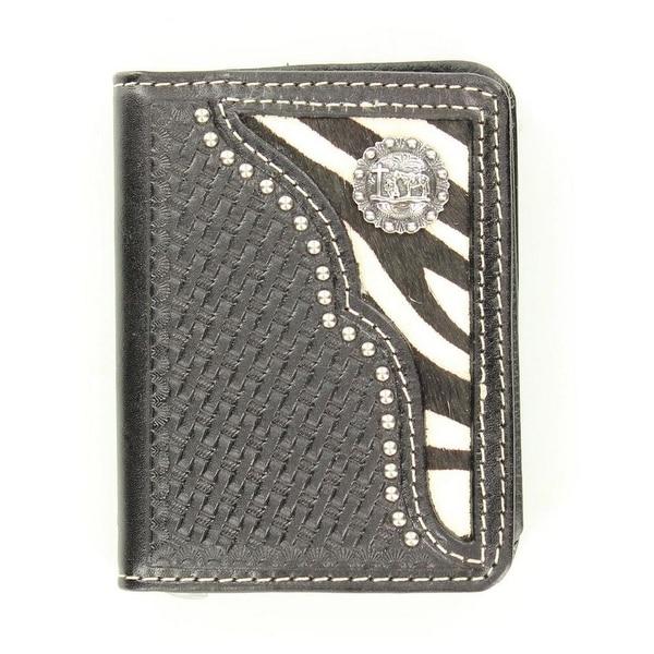 Nocona Western Wallet Mens Bifold Zebra Cowboy Prayer Black - One size
