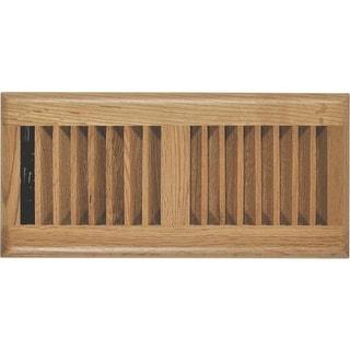 """Imperial RG2195 Louvered Floor Register, Light Oak, 4"""" x 12"""""""