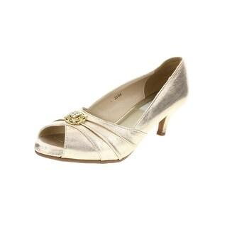 Dyeables Womens Kristin Peep-Toe Heels Satin Embellished