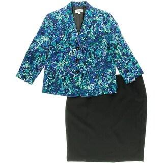 Le Suit Womens Printed 2PC Skirt Suit