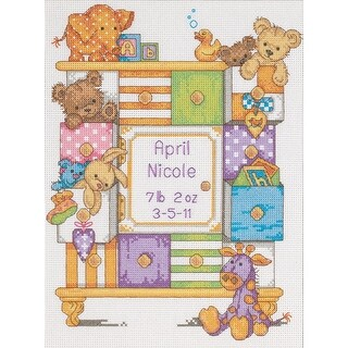 Baby Hugs Baby Drawers Birth Record Counted Cross Stitch Kit