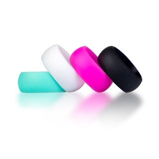 Synergee Silicone Pro Athlete Series WOD Wedding Rings - 4 Pack - Women and Men