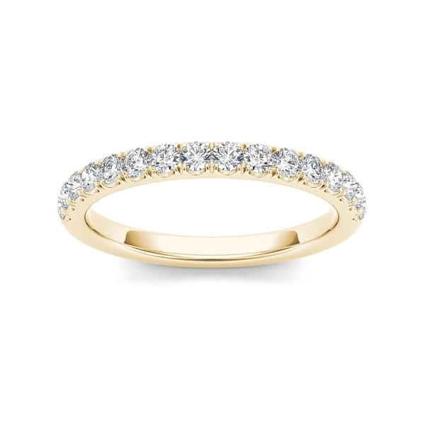 De Couer 14k Yellow Gold 1/2ct TDW Diamond Wedding Band. Opens flyout.