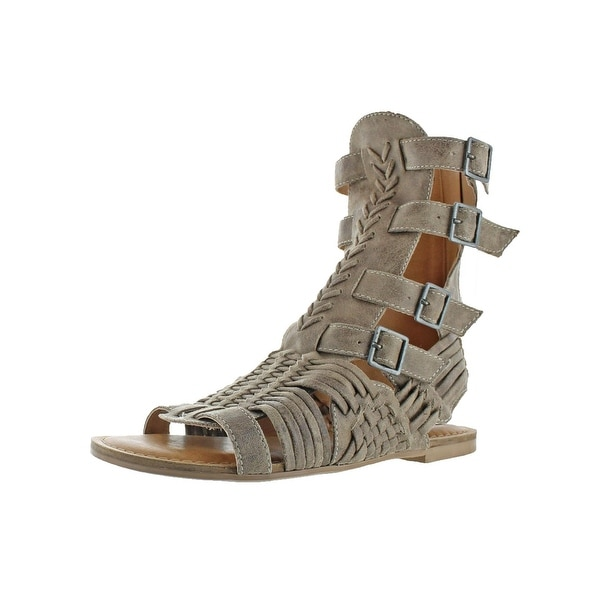 Not Rated Womens Timavo Gladiator Sandals Faux Suede Buckle Closure