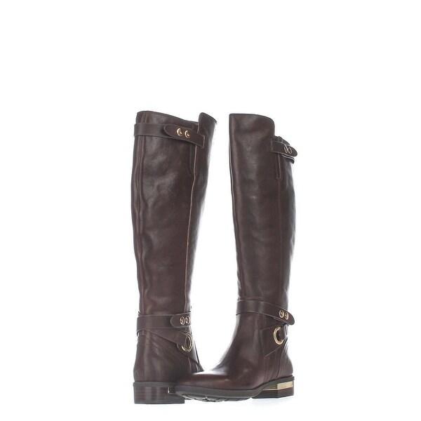 Vince Camuto Womens prini Leather Almond Toe Knee High Fashion Boots