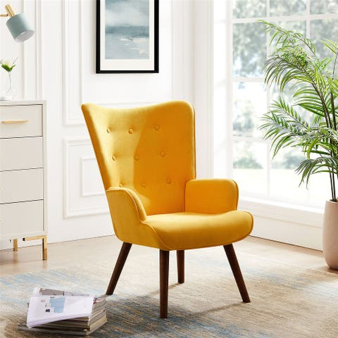 Accent Chair Armchair, Upholstered Nap Chair Comfy Lounge Chair
