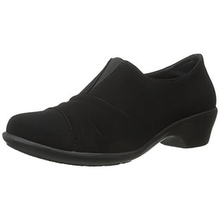 Easy Street Womens Yvette Faux Suede Slip On Casual Shoes - 6 narrow (aa,n)