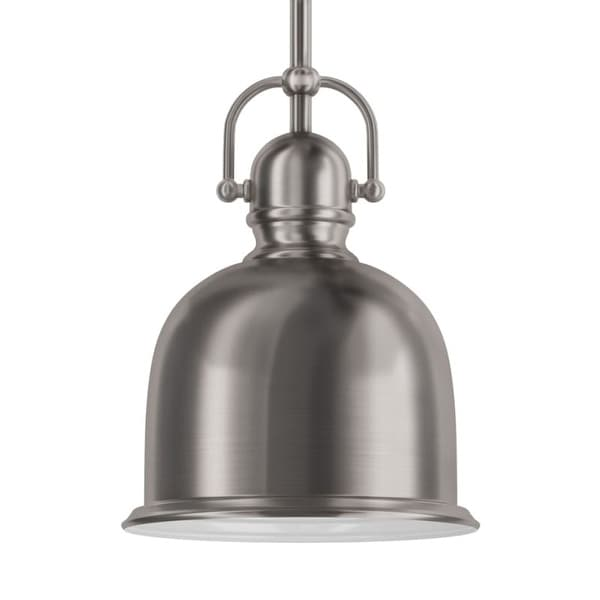 """Park Harbor PHPL5431 8"""" Wide Single Light Mini Pendant with Industrial Style Shade"""