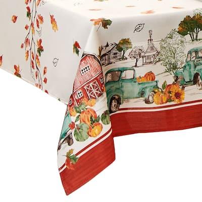 Farm Fresh Pumpkin Truck Fall Tablecloth