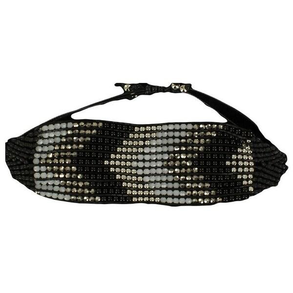 Blazin Roxx Jewelry Women Wrap Woven Bead Crystals Chevron Black 30744
