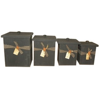 Link to Primitive Pine 4 Piece Canister Set Similar Items in Kitchen Storage