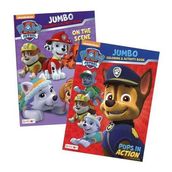 Jumbo Paw Patrol Coloring Book