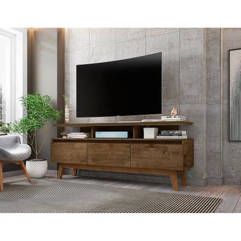 Yonkers Mid Century Modern Wood 62.99 TV Stand