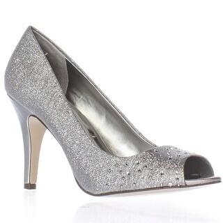 SC35 Madyson2 Peep-Toe Pump Heels - Silver