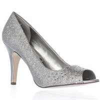 SC35 Madyson2 Peep-Toe Pump Heels, Silver - 6.5 us