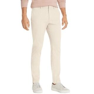 Theory Mens Zaine Slim Fit Ice Cotton Twill Chino Pants 31 Sand