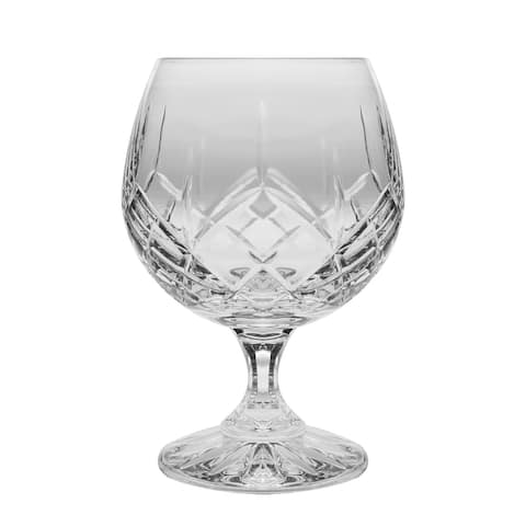 Crystal - Sherry - Brandy - Snifter - Glasses - Set of 6 - Handcrafted - Bourbon - Wine - 11 ounce - by Majestic Gifts Inc.
