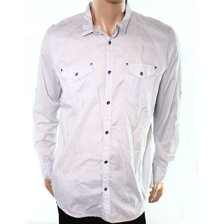 INC NEW Silver Gray Pocket Mens Size XL Collared Button Down Shirt