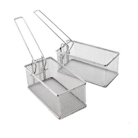 Curtis Stone 2-piece Stainless Steel Fry Basket Set Model 694-123