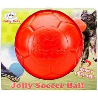 "Jolly Pets 8"" Soccer Ball, Orange, Large/X-Large"