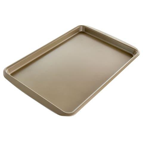 Kenmore Elite 17 Inch Nonstick Carbon Steel Rectangular Cookie Sheet - Silver
