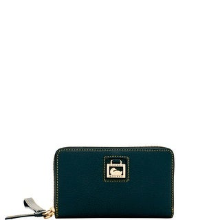 Dooney & Bourke Dillen Zip Around Phone Wristlet (Introduced by Dooney & Bourke at $118 in Feb 2017) - black black